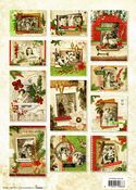 Vintage Christmas Scenes 3D Die Cut Decoupage A4 Block  By Studio Light